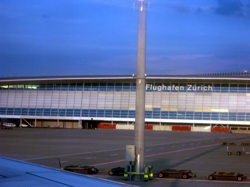 チューリッヒ空港にて